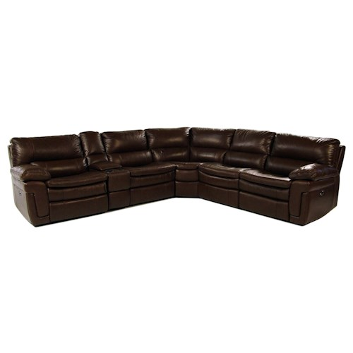 Giovani Fairwinds 6PC Power Reclining Leather Sectional