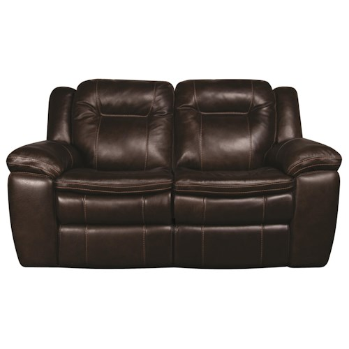 Morris Home Furnishings Heath Power Leather-Match* Reclining Loveseat