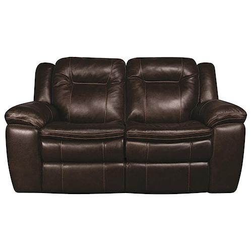 Morris Home Furnishings Heath Power Leather-Match* Reclining Loveseat