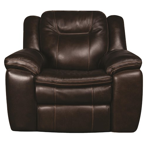 Morris Home Furnishings Heath Power Leather-Match* Recliner