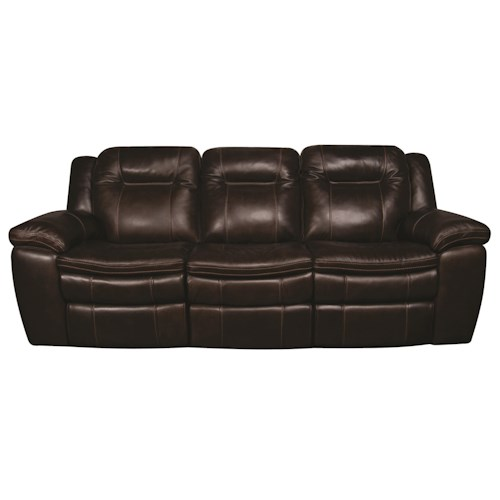 Morris Home Furnishings Heath Power Leather-Match* Reclining Sofa