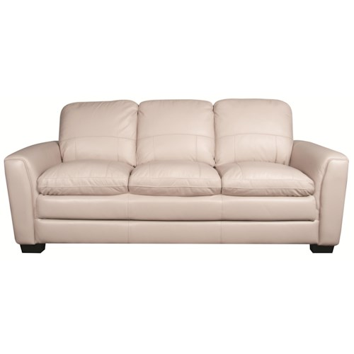 Morris Home Furnishings Rowan 100% Leather Sofa