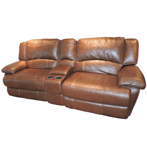 Belfort Select Grayson Love Seat Recliner with Storage Console