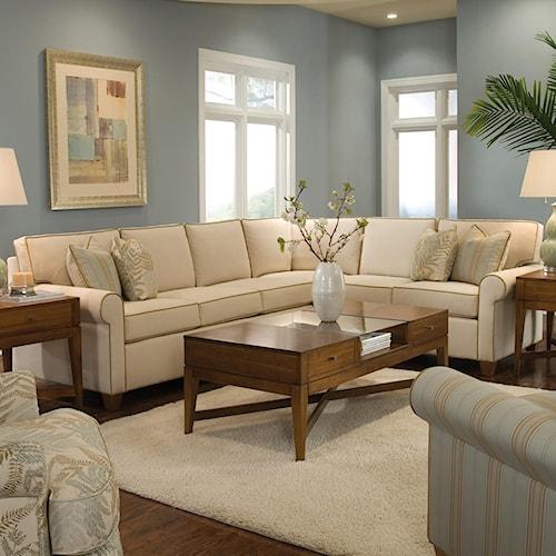 Huntington House 2043 Customizable Transitional Sectional Sofa