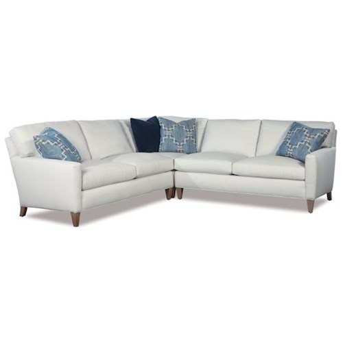Huntington House 2100 Modern Three Piece Corner Sectional Sofa