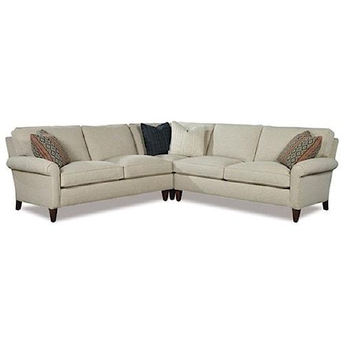 Huntington House 2100 Casual Three Piece Sectional Sofa