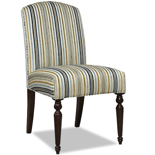 Huntington House 2401F Contemporary Upholstered Dining Side Chair