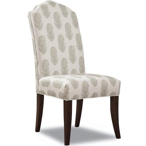 Huntington House 2407 Upholstered Dining Side Chair with Tapered Legs