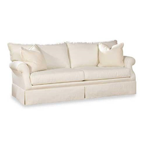 Huntington House 2051 Customizable Casual Sofa with Clean Skirt