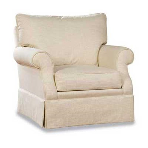 Huntington House 2051 Customizable Upholstered Chair with a Clean Skirt