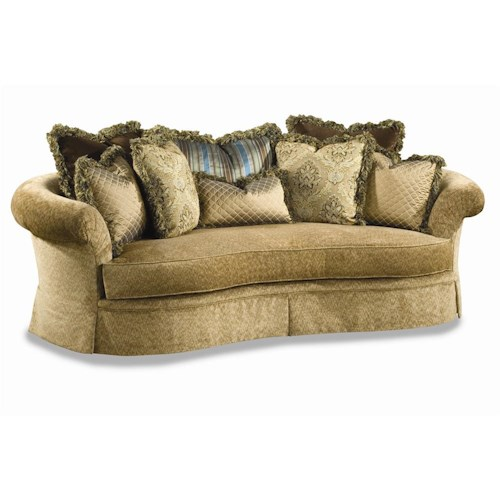Huntington House 3167 Curvaceous Upholstered Sofa