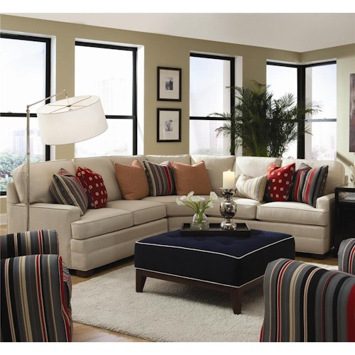 Huntington House 2061 Curving Sectional Sofa