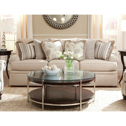 Huntington House 2081 Sofa with Low Profile Rolled Arm