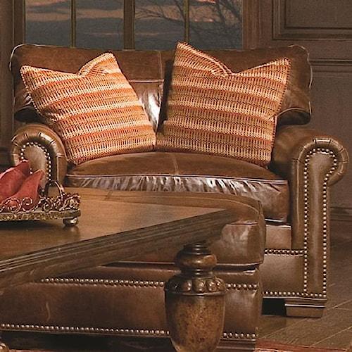Huntington House 7107 Leather Chair / Nailhead Trim