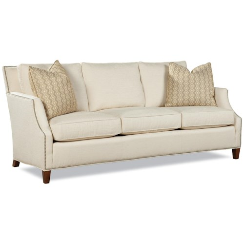 Huntington House 7115 Contemporary Sofa with Tapered Wood Legs