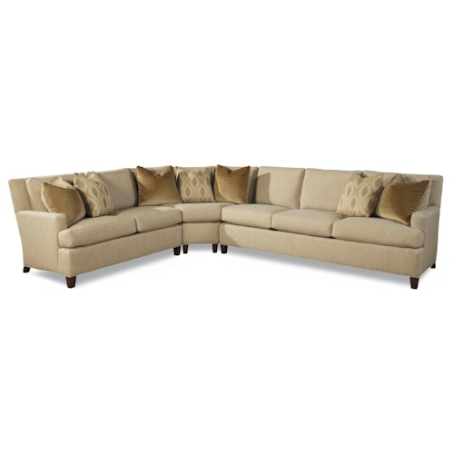 Huntington House 7161 Contemporary Three Piece Sectional Sofa