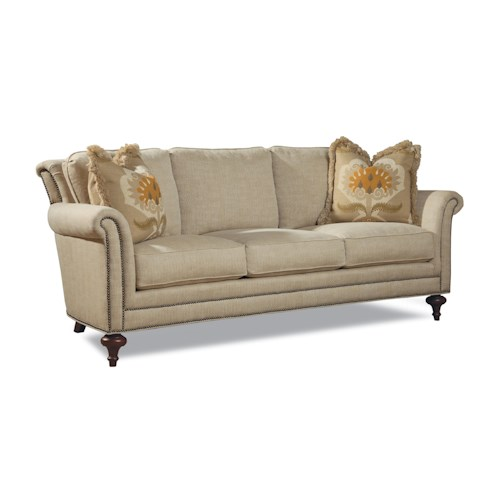Huntington House Sawyer Traditional Sofa w/ Turned Legs