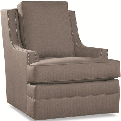 Huntington House 7202 Chair with Scooped Arms and Nail Head Trim