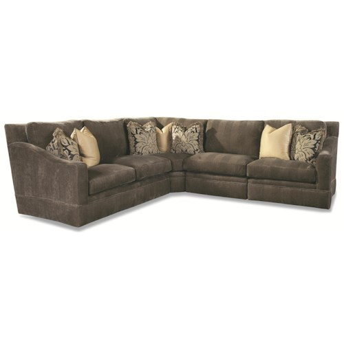 Huntington House 7204 4 Seater Sectional with Sloping Track Arms