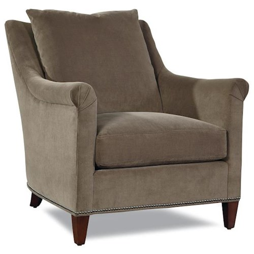 Huntington House 7240 Collection Customizable Upholstered Chair with Loose Pillow Back