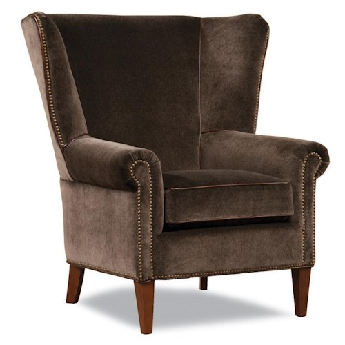 Huntington House 7418 Transitional Chair with Flared Wing Back and Nailhead Trim