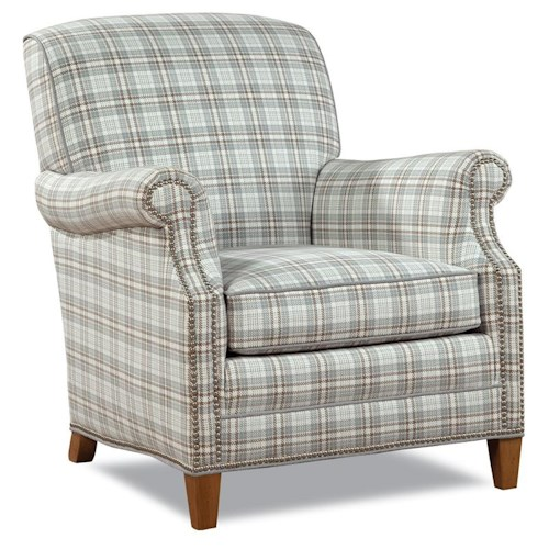Huntington House 7436 Latham Casual Elegant Chair with Nailhead Trim