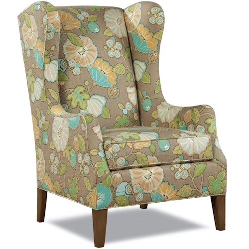 Huntington House 7444 Traditional Wing Chair with Tapered Legs