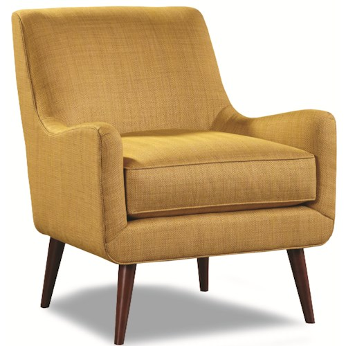 Huntington House 7470 Upholstered Chair with Mid-Century Modern Legs