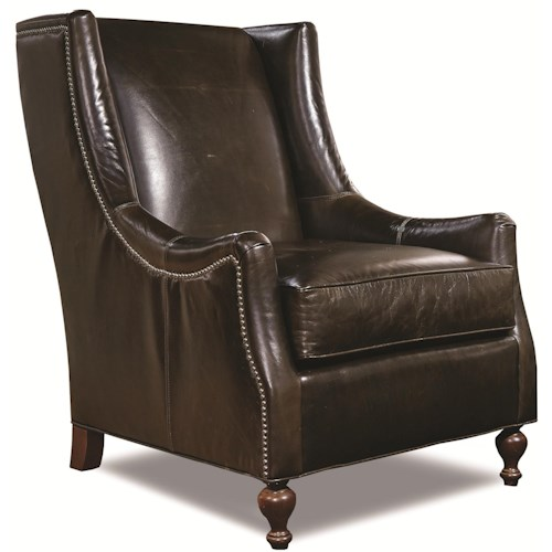 Huntington House 7497 Traditional Accent Chair with Nailhead Trim