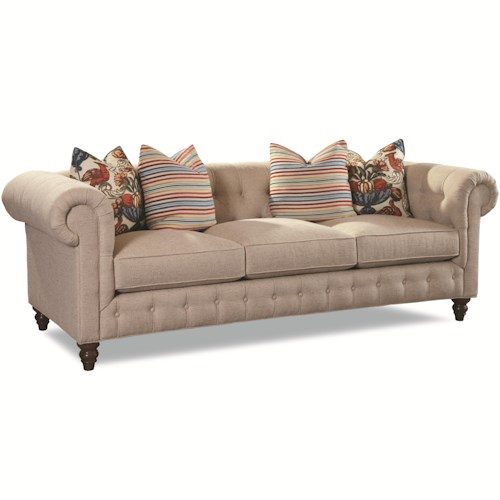 Huntington House 7498 Traditional Sofa with Rolled Arms