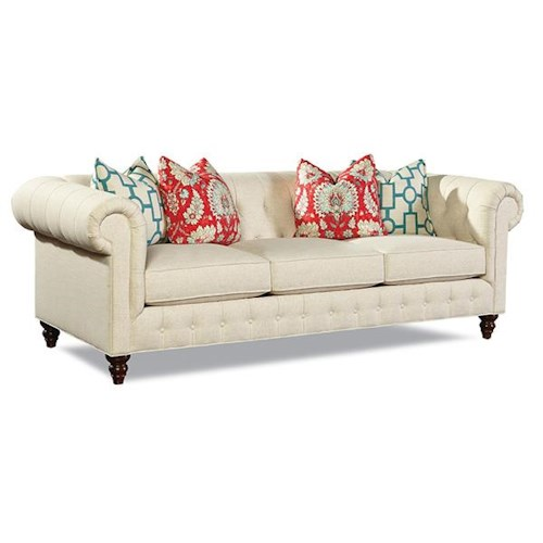 Huntington House Emilie Traditional Sofa with Rolled Arms