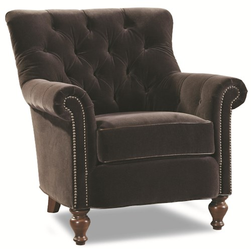 Huntington House 7704 Upholstered Chair with Tufted Back and Nail Head Trim