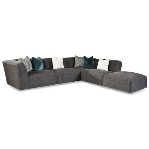 Huntington House 7722 Customizable Left Arm Facing Tight Back Sectional