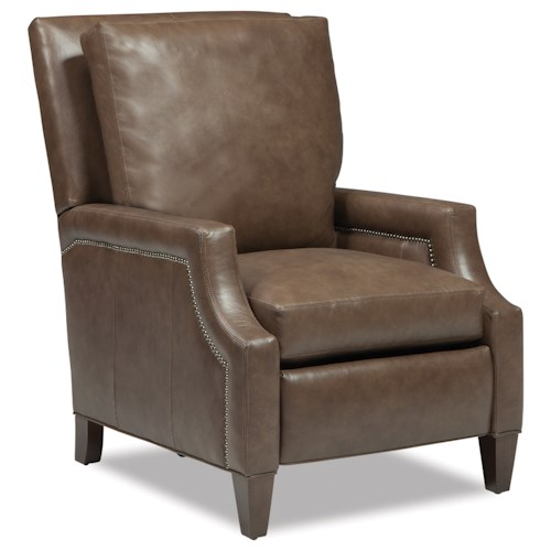 Huntington House 8103 Power High Leg Recliner with Scooped Track Arms and Nailheads