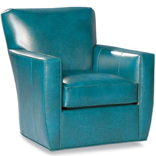 Huntington House Alec Upholstered Swivel Chair with Track Arms