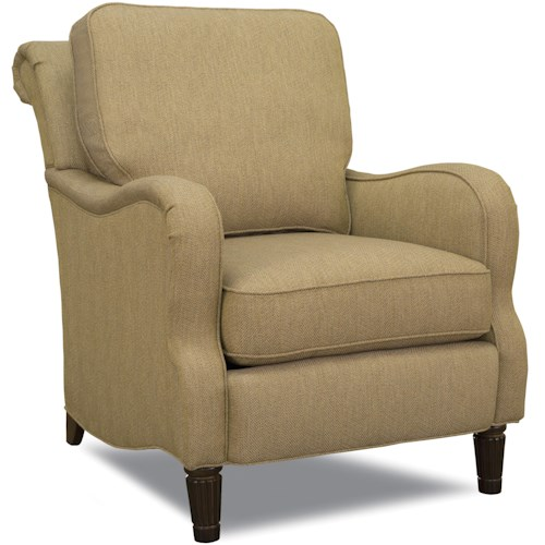 Huntington House 7073 Traditional Stationary Accent Chair with Rolled Back