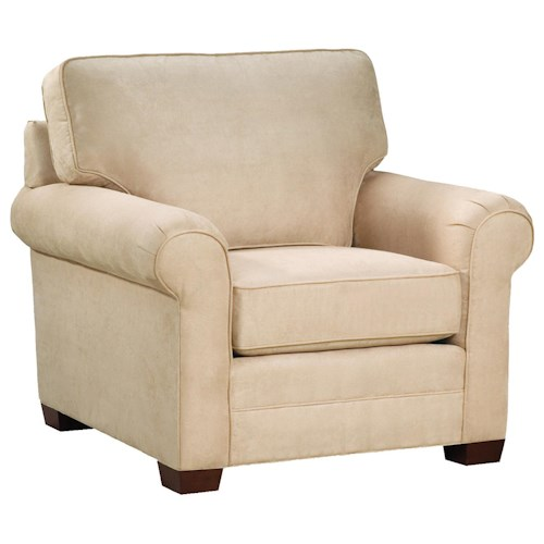 Huntington House 2053  Customizable Upholstered Chair with Rolled Arms