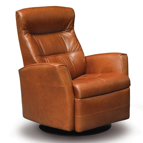 Vendor 508 Recliners Modern Crown Recliner Relaxer with Swivel Base