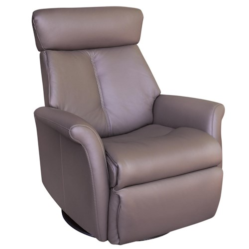 Vendor 508 Recliners Modern Bella Wing Recliner Relaxer with Swivel Base