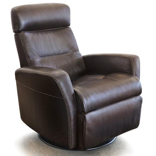 Vendor 508 Recliners Modern Divani Recliner Relaxer with Swivel Base