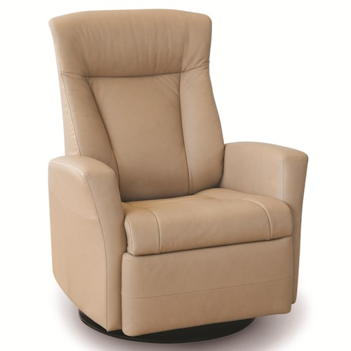 Vendor 508 Recliners Modern Prince Recliner Relaxer with Swivel Glider Base
