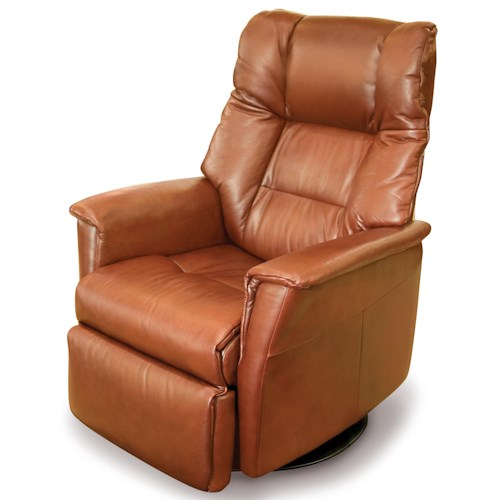 Vendor 508 Recliners Modern Verona Recliner Relaxer with Swivel Base