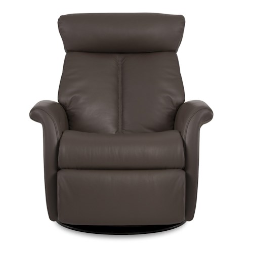 IMG Norway Bella Large-Size Bella Relaxer Glider Rocking Recliner with Flip-Up Leg Rest & 360-Degree Swivel