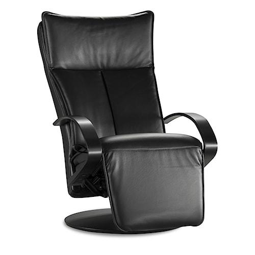 IMG Norway 2500 Elite Black Leather Recliner