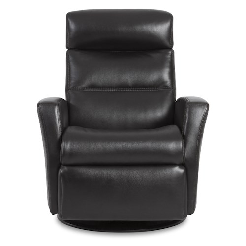 IMG Norway Divani  Compact-Size Manual Recliner with Swivel, Glide and Rock