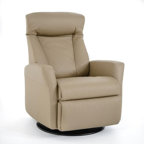 IMG Norway Prince Prince Relaxer Recliner in Large Size with Adjustable Headrest, Swivel, Glide and Recline