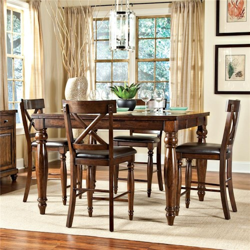 Intercon Kingston  7Pc Counter Height Dinette