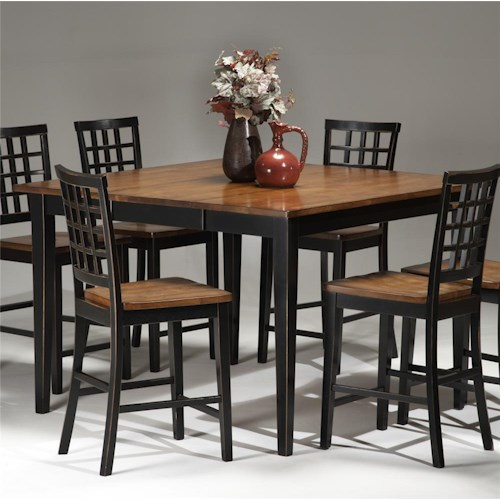 Intercon Arlington Four Leg Square Gathering Table