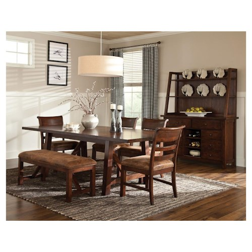Intercon Bench Creek Casual Dining Room Group