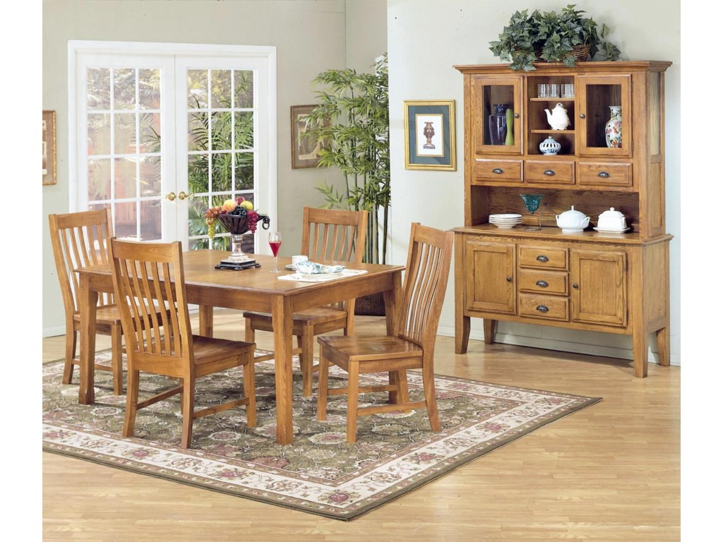 Shown with Slat Back Side Chairs and China Cabinet